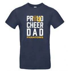 "T-Shirt Navy ""Proud Cheer Dad"""